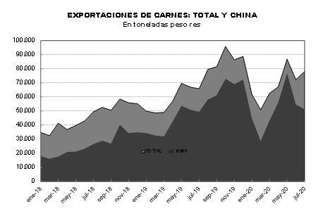 En lo que va del año, las exportaciones de carne hacia China revelaron oscilaciones importantes