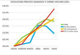 Precios: en carne vacuna, dato mata relato