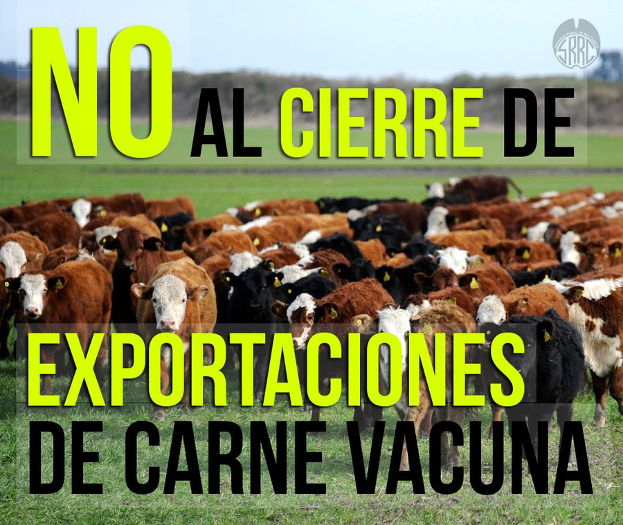 """Carne: la Rural de Río Cuarto manifestó su """"enérgico"""" rechazo a un cierre de exportaciones"""
